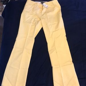 The Limited pants new with tags 6 regular yellow